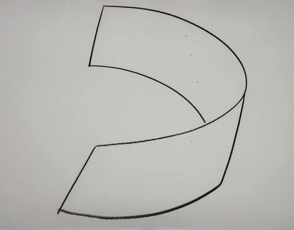 Obra 'C.C. VIII' (1983-84), de Richard Serra, pieza relacionada con la escultura Clara, Clara, instalada en las Tullerías de París. Cortesía de la Galería Guillermo de Osma.