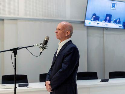 El antiguo jefe de la contrainteligencia venezolana, Hugo Armando 'El Pollo' Carvajal, en la Audiencia Nacional, en 2019.