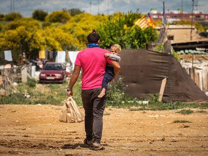 Un asentamiento con personas en situación de pobreza de Valencia.