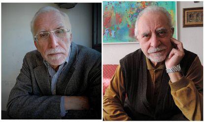 De izquierda a derecha Luis Mateo Díez y José María Merino.