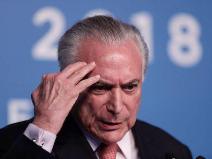 Michel Temer, durante su participación en la cumbre del G20 en Buenos Aires.