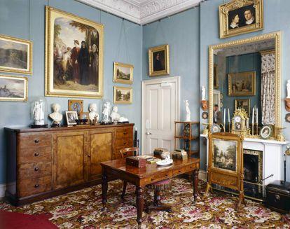 Estudio y vestidor del príncipe Alberto en Osborne House. |