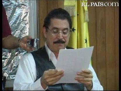 """El presidente depuesto de Honduras califica de """"ilegales"""" los comicios previstos para el 29 de noviembre"""