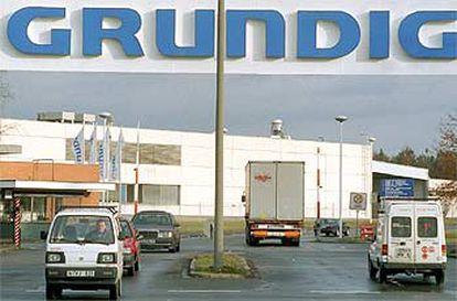 Imagen de la planta de la fábrica de Grundig en Núremberg (Alemania).