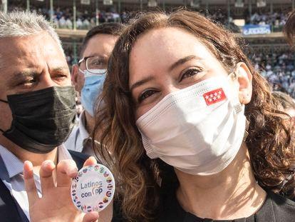 Isabel Díaz Ayuso, en el cierre de la Convención Nacional del PP en Valencia, este domingo. Isabel Díaz Ayuso, en el acto de clausura de la Convención Nacional del PP, en la Plaza de Toros de Valencia FOTO, MÒNICA TORRES EL PAÍS