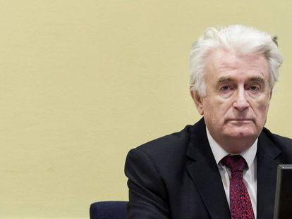 Radovan Karadzic, el miércoles en el tribunal de La Haya.