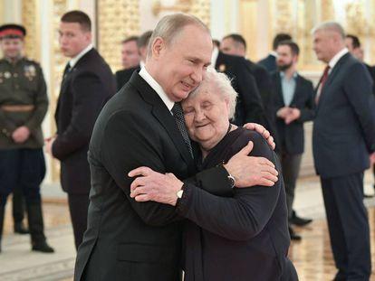 Vladimir Putin, durante una recepción en el Kremlin de Moscú el 9 de mayo.