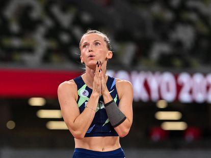 Anzhelika Sidorova, plata en salto con pértiga