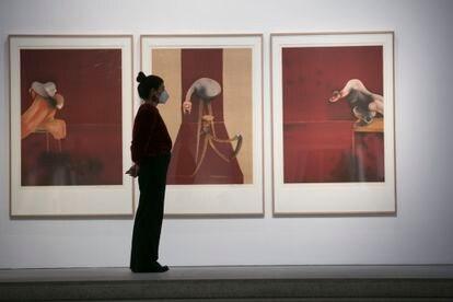 Exposición de Francis Bacon y Lucien Freud en la sala Marlborough en Madrid. En la imagen, '2nd version of Triptych' (1944), de Francis Bacon.