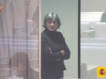 María Soledad Iparraguirre en el juicio por su colaboración en un atentado del 94 en Getxo, el pasado 27 de enero.