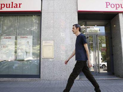 Sucursal de una oficina del Popular en la Carretera de Canillas de Madrid.