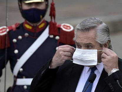 El presidente argentino, este miércoles en Buenos Aires.