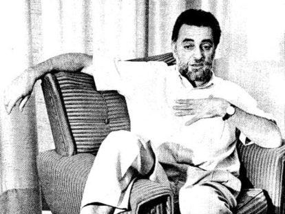 Entrevista a Julio Anguita, en 1991. Foto de Rodríguez Aparicio