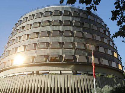 Vista del Tribunal Constitucional, en Madrid.