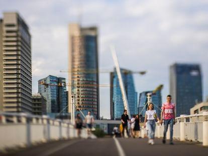Zona financiera de Vilnius, donde se encuentran la mayoría de las Fintech establecidas en Lituania. En vídeo, cómo Lituania se ha convertido en el centro de referencia de las empresas de tecnología financiera en Europa.