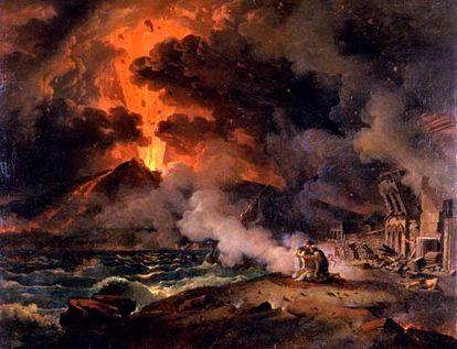 La muerte de Plinio en un cuadro de Pierre-Henri de Valenciennes.