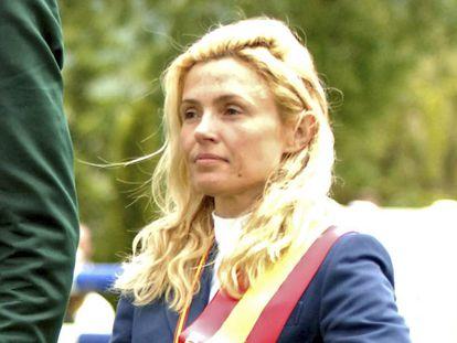 Susana García Cereceda, en un campeonato de saltos en 2007.