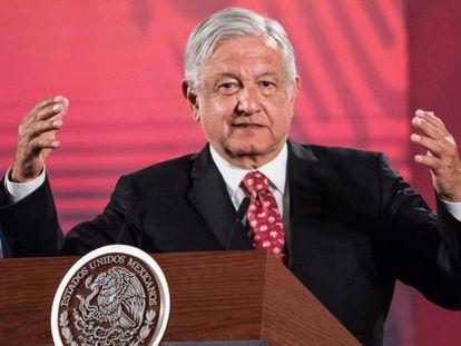López Obrador durante la mañanera de este miércoles