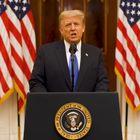 Una imagen del último mensaje como presidente de EE UU de Donald Trump, este martes.