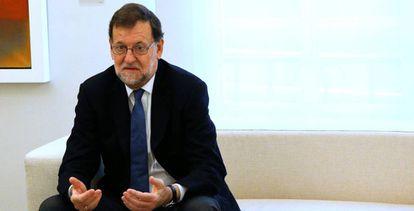 Mariano Rajoy, en La Moncloa, este viernes.