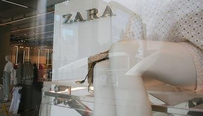 Escaparate de una tienda de Zara en el centro de Madrid, la semana pasada.