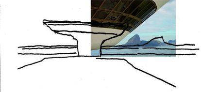 Boceto de Niemeyer.