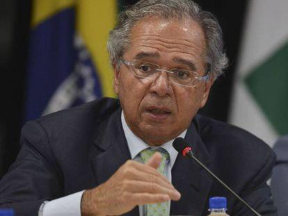 El ministro de Economía de Brasil, Paulo Guedes, este lunes en Brasilia.