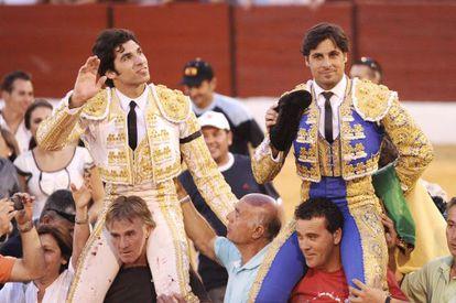 Los hermanos Rivera durante la feria taurina de Villanueva del Arzobispo el pasado septiembre.
