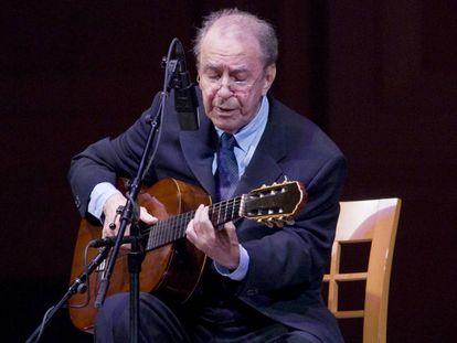 João Gilberto, en un concierto en Nueva York en 2008.