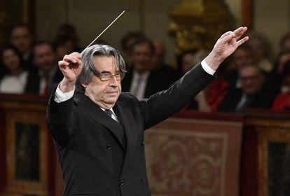 Ricardo Mutti, en la previa ayer día 30 del concierto de Año Nuevo en Viena.