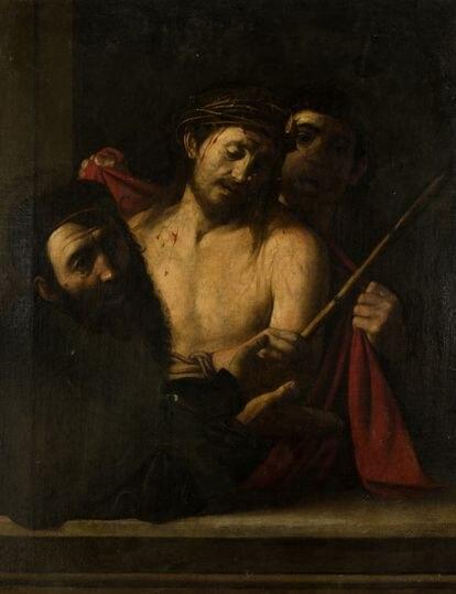 La última imagen tomada del supuesto 'caravaggio' ya bajo custodia de Colnaghi.