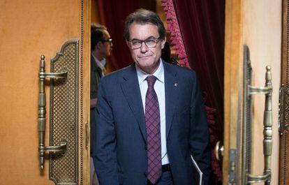 Artur Mas, en el Parlament de Cataluña, el pasado 25 de junio.