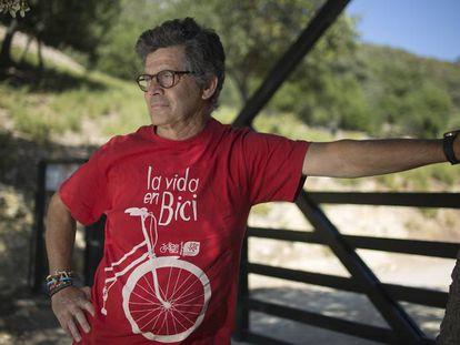 El histórico dirigente de Ecologistas en Acción Juan Clavero, este viernes en la Sierra de Grazalema.