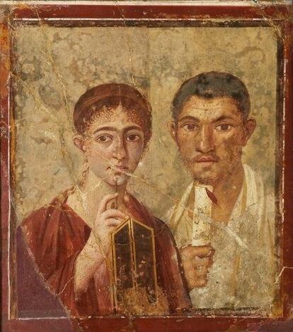 Mosaico de la Villa de los Papiros, en Pompeya.