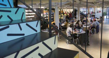 Esquina del café de Google Campus.