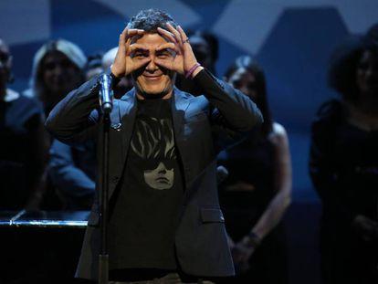 Alejandro Sanz, tras recibir el premio al mejor álbum por '#ElDisco'.