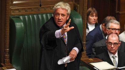 , cuando era presidente de la Cámara de los Comunes británica, el 21 de octubre de 2019.
