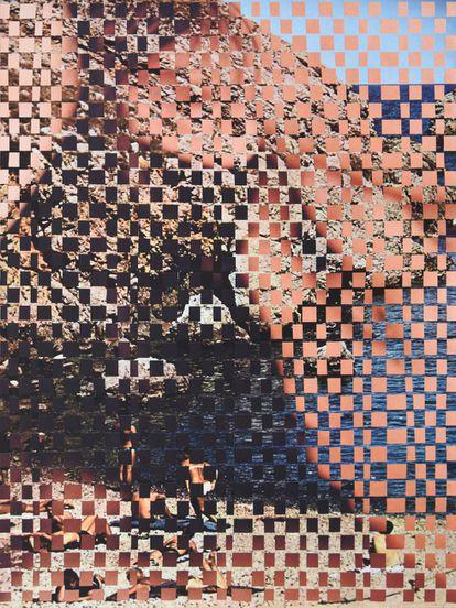 """Hablan 14"", de Beatriz Dubois, collage sin pegamento."