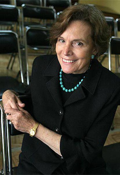La exploradora Sylvia Earle, fotografiada durante su visita en Madrid.