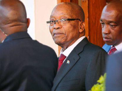 El presidente Zuma, en Ciudad del Cabo, el pasado 7 de febrero.