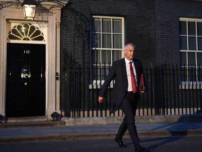 Stephen Barclay sale del 10 de Downing Street, el pasado 24 de julio.