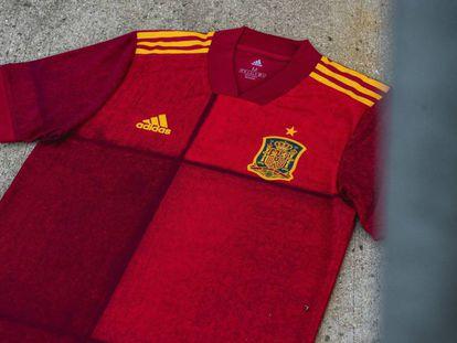 Nueva camiseta de la selección española.