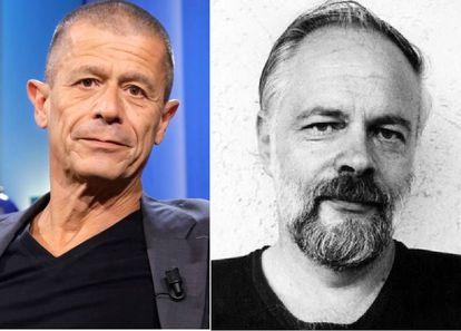 Emmanuel Carrère (izquierda) y Philip K. Dick.