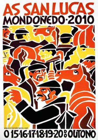 Cartel de Xosé Vizoso para las fiestas de Mondoñedo