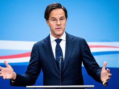 El primer ministro de Países Bajos, Mark Rutte, el pasado día viernes en una conferencia de prensa en La Haya.