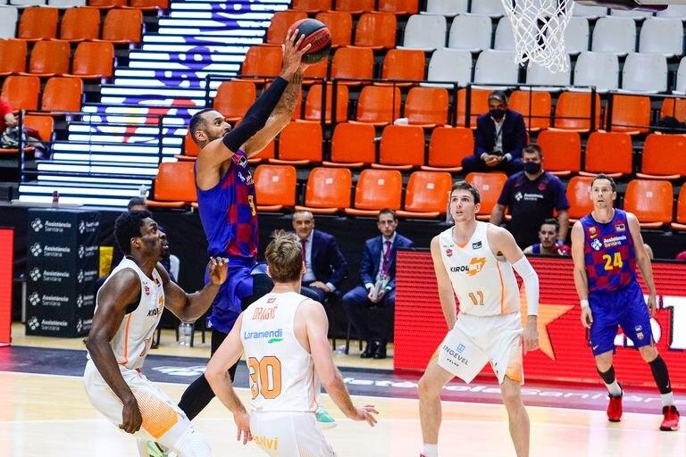Adam Hanga, del Barça, en el partido de la Fase Final de la Liga Endesa contra el Baskonia
