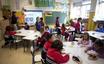 Una clase de primaria del Colegio Filósofo Seneca.
