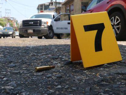 La escena de un crimen en Guerrero, uno de los Estados más violentos de México.