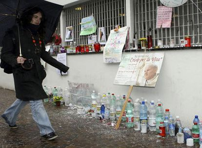 Una joven pasa por la clínica La Quiete de Udine