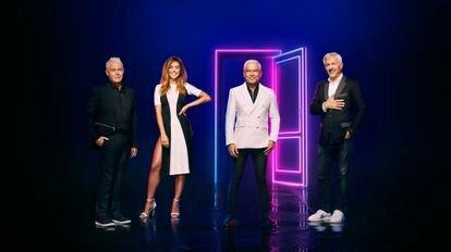 Jordi González, Lara Álvarez, Jorge Javier Vázquez y Carlos Sobera, presentadores de 'Secret Story' en Telecinco y Cuatro.